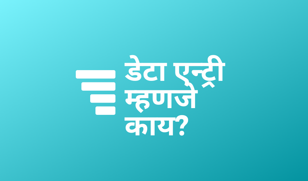data entry meaning in marathi